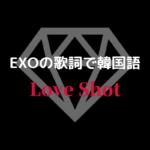 Love Shot/EXO K-POP歌詞和訳で韓国語を学ぼう