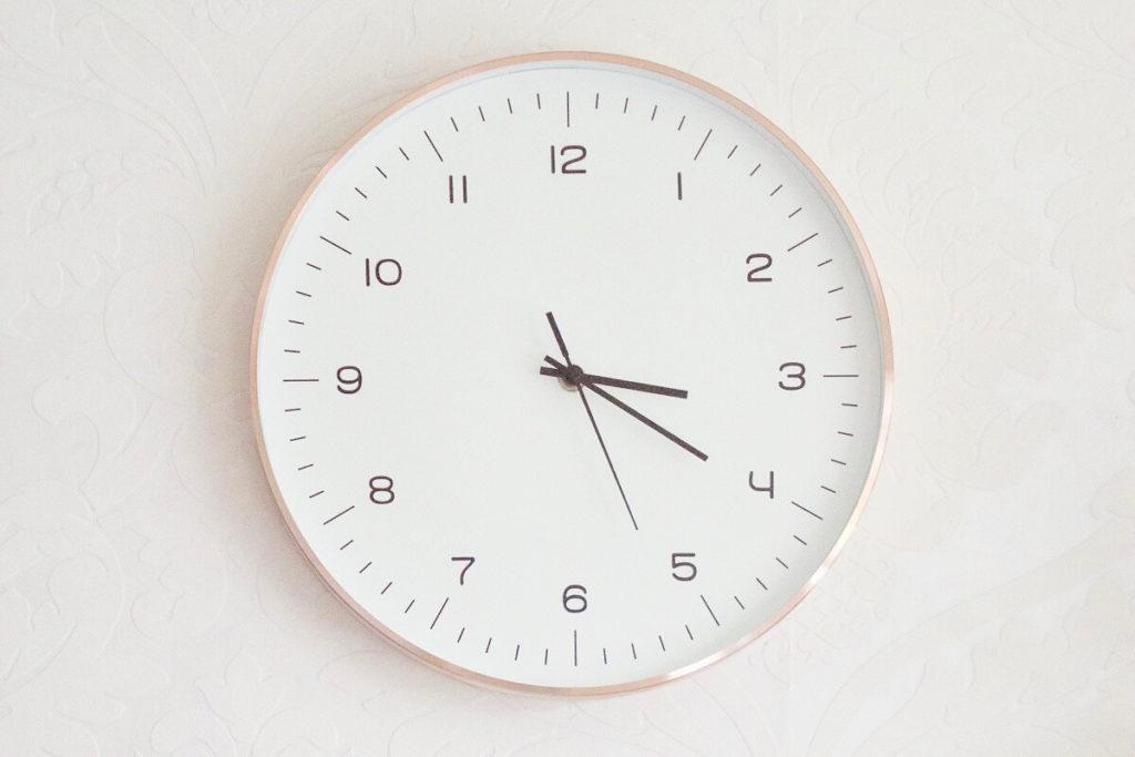 韓国語での時間の言い方